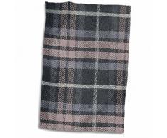 3dRose Tartan Modello, Grigio e Nero Scozzese Controlli, Tradizionale Classico Scozia Plaid a Quadri, Colore: Bianco, 15Â x 55,9Â cm
