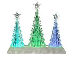 WeRChristmas – Decorazione musicale albero di Natale scena a LED che cambia colore, in acrilico, multicolore, 26 cm
