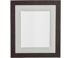 PER POSTA CORNICI A2 venosa profonda cornice con la luce grigia supporto vetro plastica e A3 per le foto, marrone scuro