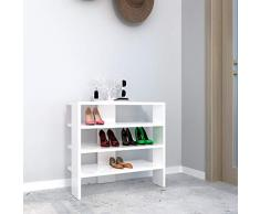 Homemania Scarpiera Mix, Legno, Bianco, 63,6x31,8x60 cm