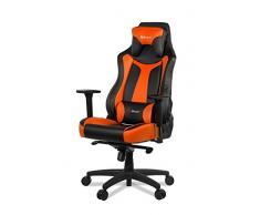 Arozzi Vernazza Sedia da Gaming, Finta Pelle, Arancione, 50 x 55 x 130 cm
