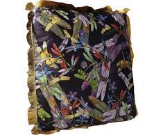 Kare Design Tropical Garden Fringe Cuscino, Multicolore, One Size