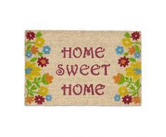 Relaxdays Zerbino per Ingresso, Fibra di Cocco, 60 X 40 cm, Modello Home Sweet Home, con Base Inferiore in PVC
