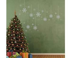 DECORAZIONI NATALIZIE Adesivi da parete Natale Argento Fiocchi di neve decorazioni da parete decalcomania soggiorno BAMBINI ASILO NIDO SCUOLA Albergo Decorazioni per la casa