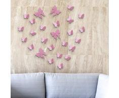 Wallflexi Adesivi da parete farfalle fragole rimovibili autoadesivi, per caffetterie, hotel, ristoranti, uffici, decorazioni per la casa