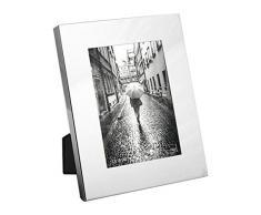 H&H Liscio Portafoto, Metallo, Acciaio, 19x12x25 cm