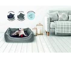 Sogni e Capricci Pets Cuccia Dandy, Poliestere, Grigio, 62 x 50 x 17 cm