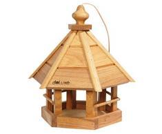 Lusso della Casetta in legno di quercia con cordino, Mangiatoia per giardino da appendere