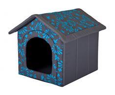 Hobbydog R2 BUDNKW6 Cuccia per Cani M R2 Blu Fiori (44 x 38 x 45 cm) Cani Gatto Letto R2 Budnkw6, S, Blue, 700 g