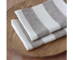 2 Canovacci lino - strofinacci lino - strofinacci da cucina in lino - asciugapiatti lino - grigio