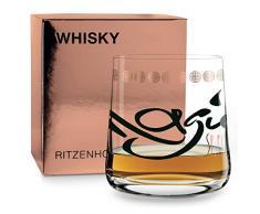 RITZENHOFF 3540012 - Bicchiere da whisky in rame metallizzato, colore: Nero