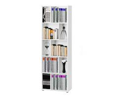 Esidra 71671 Maze Libreria, 2 Ripiani, Foglio e Melamina, Bianco, 61.6x33.1x117.4 cm