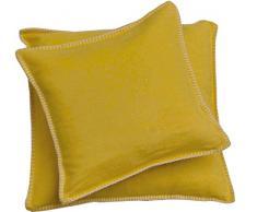 David Fussenegger Sylt - Federa per cuscino, con cucitura decorativa polline