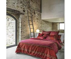Bassetti Urbino Biancheria da Letto, Cotone, Colore: Rosso, 155 x 220