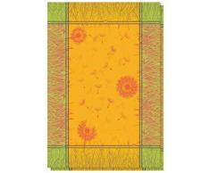 Le linge de Jules Set di 2 Strofinacci Jacquard 50 x 70 cm, 100% Cotone di qualità Superiore, Sandy