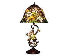 World Art, TWGF16313, Lampada da tavolo floreale, Lampade Tiffany, 41 x 74 x 41 Cm