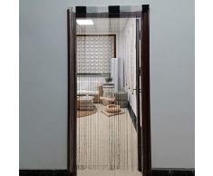 JVL Tenda per Porta, 200 x 90 cm Circa, Argento, Taglia Unica