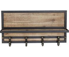 KARE Appendiabiti da Parete Cottage, Marrone, 30.5 x 14 x 61 cm