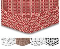 DecoKing Premium Lenzuolo con Angoli Steg 30Â cm Lenzuolo Lenzuola in Microfibra garnituren Black White Hypnosis Collection, Microfibra, TrianglesB2, 200x220