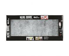 Brio 34561 Memo Board Lavagna Magnetica Beton 25 x 60 cm vetro grigio 4 x 25 x 60 cm