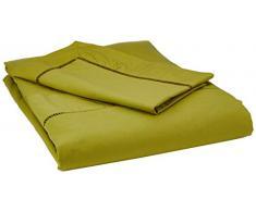 Heckett Lane Biancheria da Letto 100% Cotone Percalle Feline 140 Green Oasis