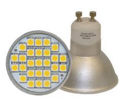 Long Life - Set 10 lampadine LED a luce intensa da 5 Watt, attacco GU10, in sostituzione di lampade alogene da 50 Watt, luce bianca calda