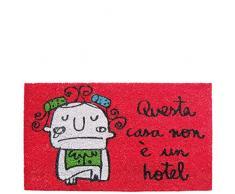 laroom zerbino in Questa casa Non è Un Hotel, Iuta e Base Antiscivolo, Rosso, 40x 70x 1.8cm