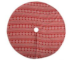 WeRChristmas-Fair Isle fiocco di neve albero di Natale gonna decorazione, Tessuto, Multicolore, 120cm, grande