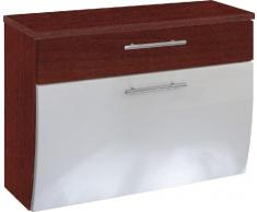 Posseik 5611 91 Santana Mobiletto per lavabo in finto legno di noce, colore: Bianco