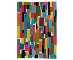 Zaida, 1 pezzo, 150 x 90 cm, lana blocchi moquette, cotone, multicolore