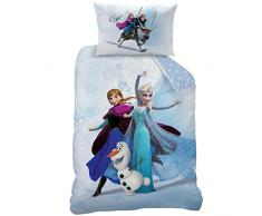 Disney Frozen 044233 Enjoy biancheria da letto, Cotone, blu, 140 x 200 + 70 x 90 cm