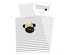 Herding Disney Minnie Mouse Set di Biancheria da Letto, Cotton, Bianco, 70 x 90 cm/ 140 x 200 cm