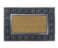 Hamat ZERBINO Kerala in Cocco e Quadro di Gomma Colore Metallo per Interni ed Esterni, 40Â x 60Â cm