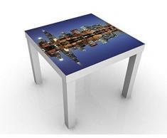 Apalis Tavolo di Design Chicago Reflection 55 x 55 x 45 cm, Colore Tavolo: Nero. Dimensioni: 55 x 55 x 45 cm.