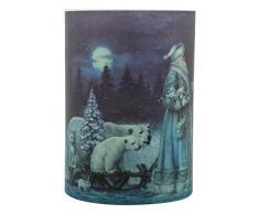 Pajoma 102466Â candela a LED vera cera con musica, motivo: Babbo Natale