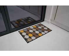 Serdim Rugs Gelback Tappeto Antiscivolo dal Design Geometrico per Cucina e corridoi Multiuso – tappetini, Oro, 120x160cm (4x53)