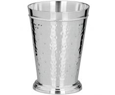 silberkanne Vaso Frankfurt, Altezza 14 cm, con Bordo Perlato Argentato. per scrivania, cassettiera, ECC.