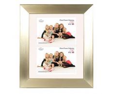 Inov 8 PFE TECM-DA2 tradizionali foto e cornici britannici, 25 x 30 cm, doppia visiera 2x 13 x 18 cm, confezione da 4, doppia champagne angolare