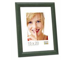 Promo Ideale Cornici In Legno, Molte Dimensioni e Colori, Cornice Foto - 10x15, Verde