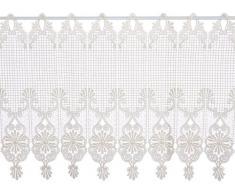 Plauener Spitze by Modespitze, Tendina decorativa, altezza 45 cm, Beige (Champagner), larghezza: 96 cm
