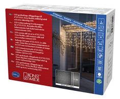 Konstsmide Maxi LED compatto System allargamento tenda luminosa non compatibile con 3656/3657, 104Â bianca calda grande diodi, esterno IP67, cavo morbido bianco 4731Â -Â 112