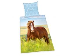 Herding Young Collection Horses Biancheria da Letto, Cotone, Multicolore, 200Â x 140Â x 0.2Â cm