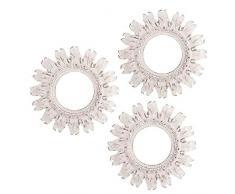 Dcasa Set di 3 specchi da Parete mobili Adesivi per la Decorazione della casa Unisex Adulto, Crema (Crema), Unico