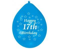 Amscan 22,8 centimetri Buon 17 ° compleanno palloncini in lattice 10