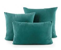 MI CASA D893 - Federa per Cuscino, 30 x 50, Colore: Verde/02, Verde, 30 x 50 cm