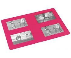 DECORLINE 42 x 29 cm, Souvenirs foto rettangolare, Tovaglietta, colore: rosa