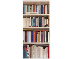 posterdepot ktt0313 - Adesivo decorativo per porta, motivo: libreria, dimensioni: 93 x 205 cm