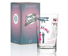 Ritzenhoff Everyday Darling softdrinkglas di Dominique giorni, in vetro cristallo, 300Â ML, CON DECORAZIONI Trendy