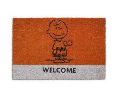 Excelsa Peanuts Zerbino Charlie Brown, Fibra di Cocco, Arancione, 40 x 60 cm