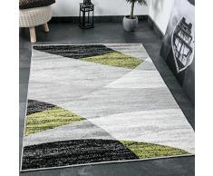Vimoda Tappeto da Soggiorno, design moderno e Geometrico A Righe, con certificazione ÖKO-TEX